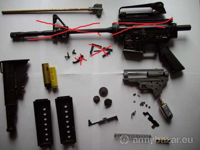 CA M15A4 Carbine na díly