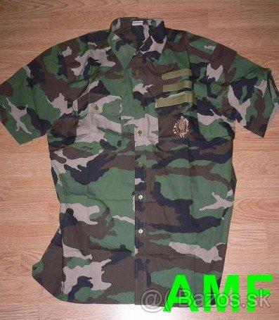 Vojenská maskáčová košela