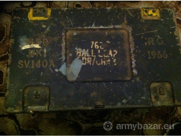 Old 1966 military metal ammunition box