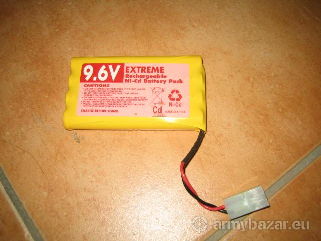 Batéria do Airsoft zbraní Ni-Cd 9,6V, 0 mA