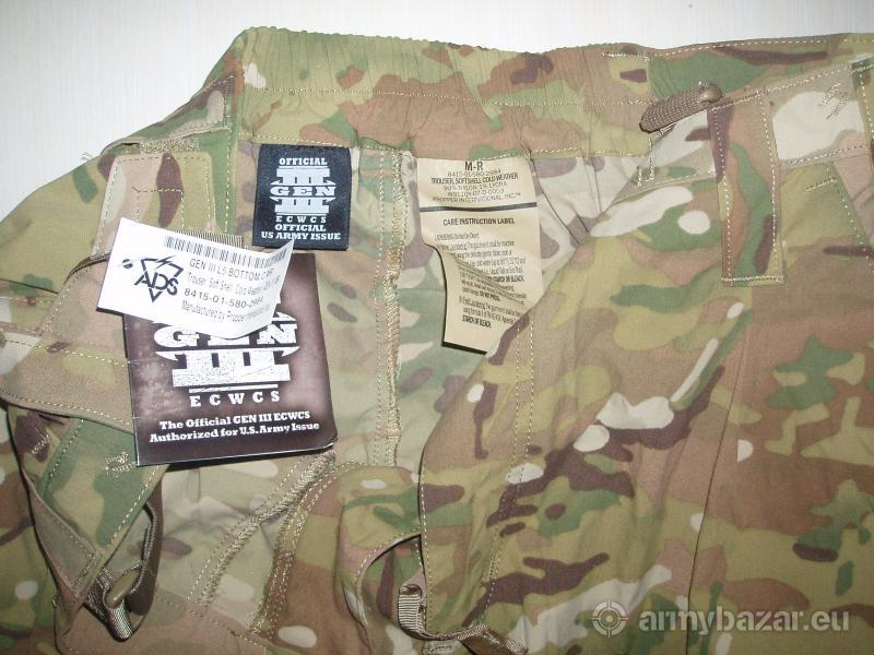 US Army Level 5, MULTICAM kalhoty SOFT SHELL NOVÉ!