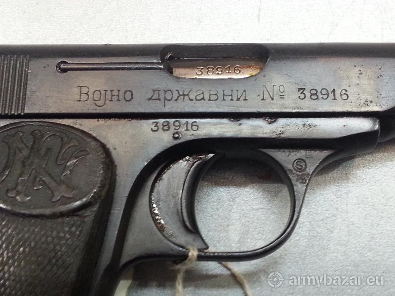 belgian 7.65mm semi auto pistol