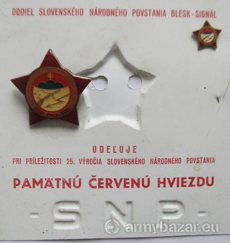 Partizánske odznaky a vyznamenania
