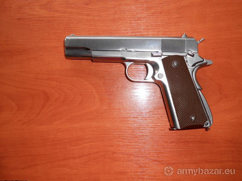 Colt 1911 Nikl - celokov, blowback - WE - Airsoft