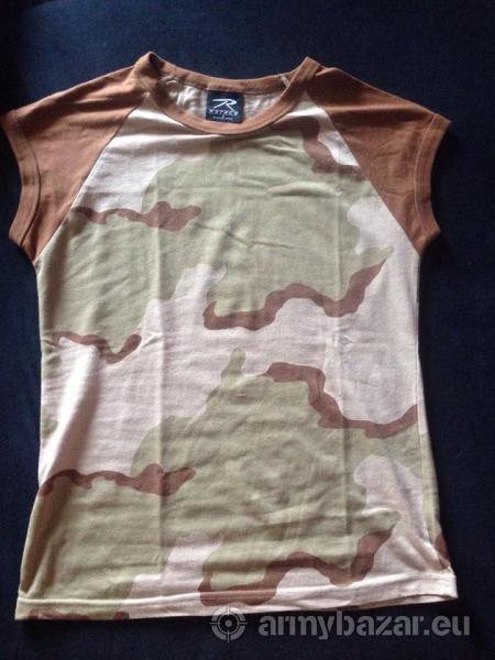 Dámske maskáčové tričko US desert