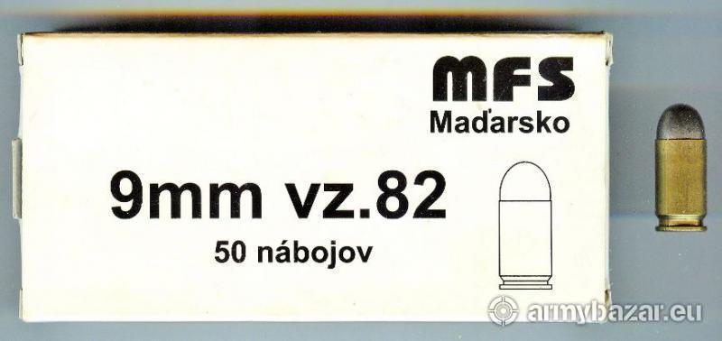 predam strelivo 9mm - 82vz. MFS