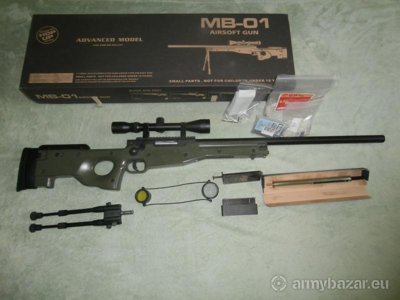 Airsoft L96 MB-01 + optika a dvojnožka