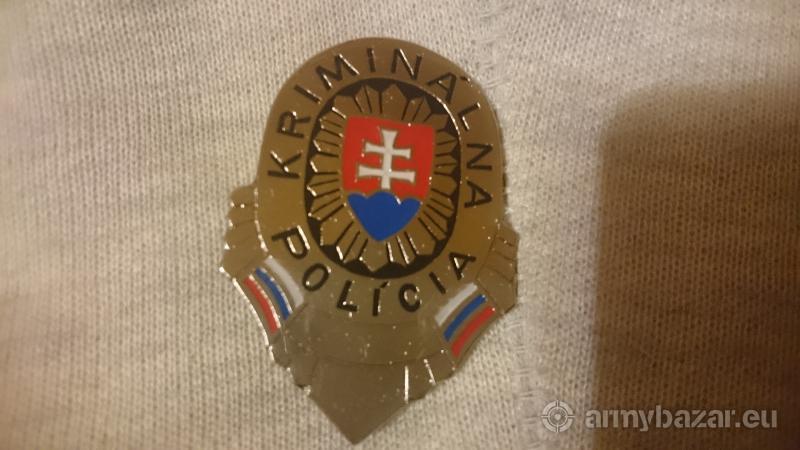 KRIMINÁLNA POLÍCIA ODZNAK