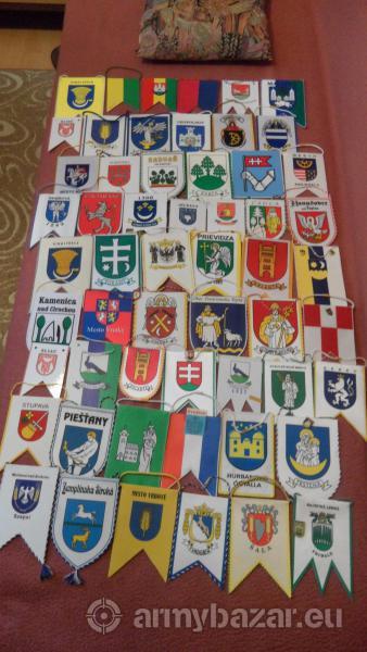 Vlajky s erbom miest a obcí SR