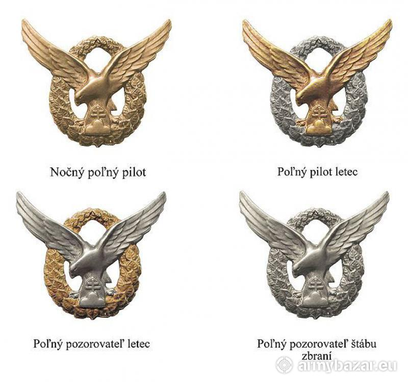 Kúpim letecke odznaky.