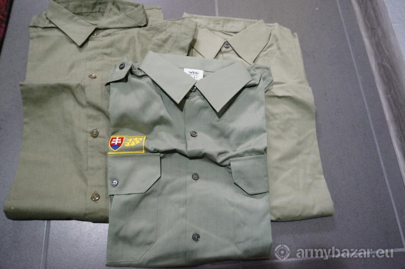 Košeľa zelena  3x