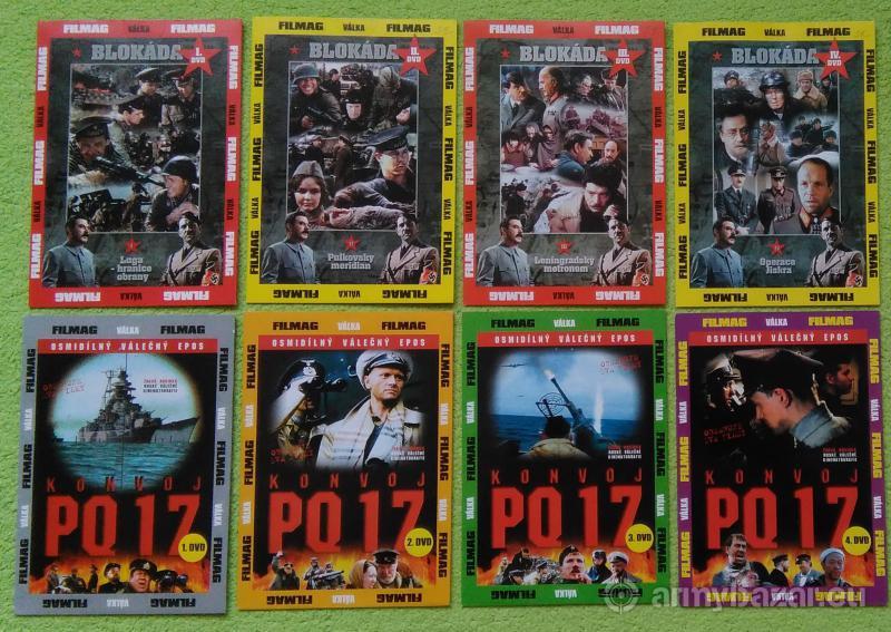 DVD - Vojnové seriály
