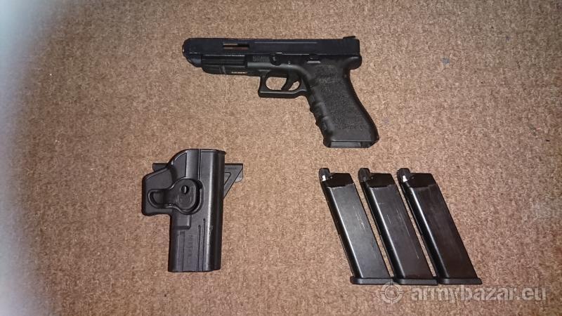 WE glock 17 with 34 top slide
