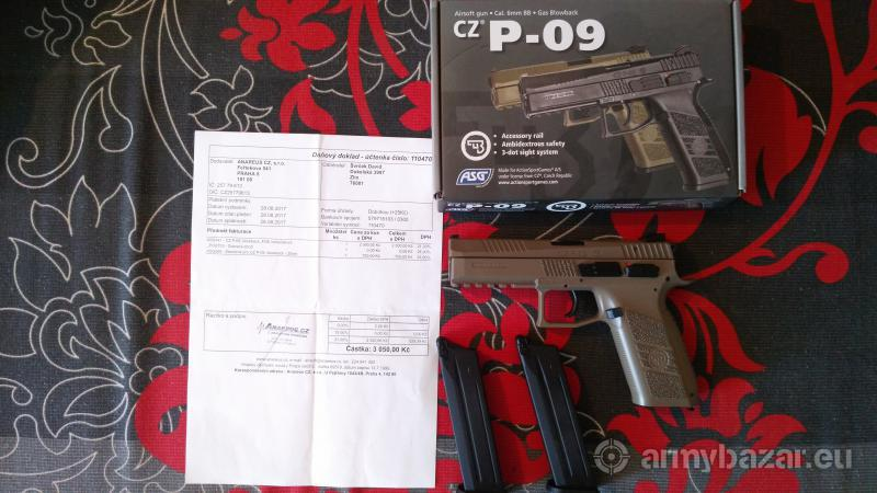 Zbran P-09 plus 2 zásobníky