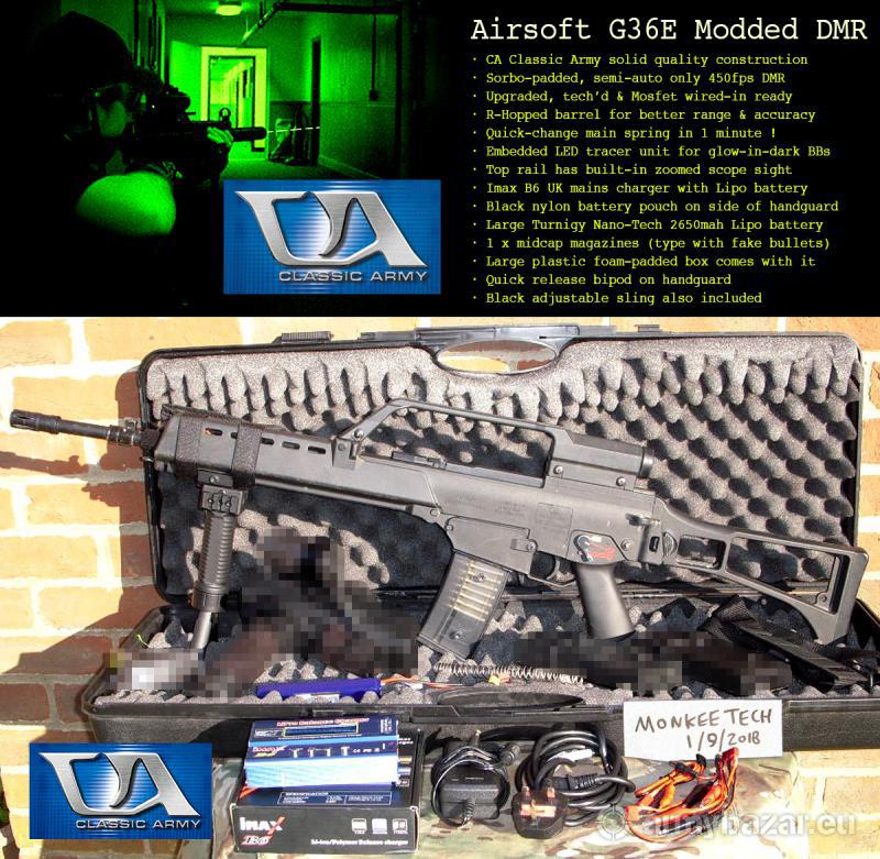 MONKEETECH - UPGRADED CLASSIC ARMY G36E DMR