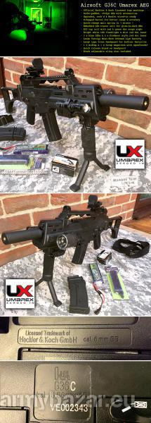 UPGRADED UMAREX G36C CQB AEG