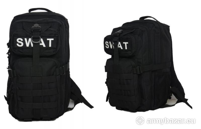 Vojenský ruksak SWAT Black
