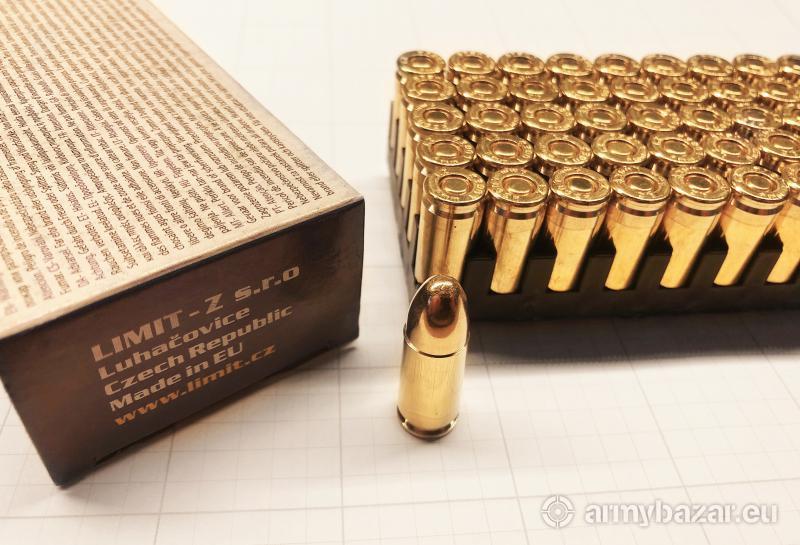 Predám nové strelivo 9x19 Luger LIMIT FMJ