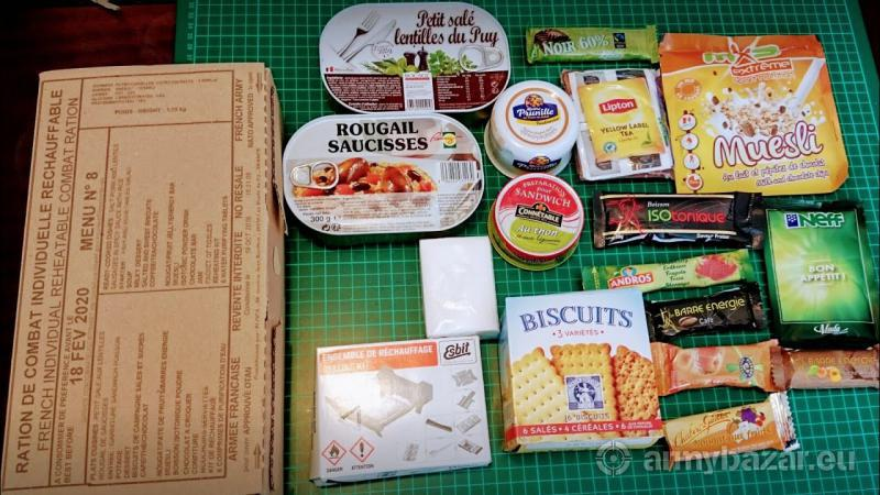 RCIR, Francuzske MRE, 24h bojova davka potravy