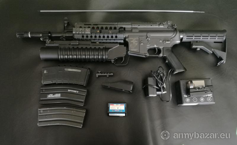 M4 aeg s Granátometem a upgradem
