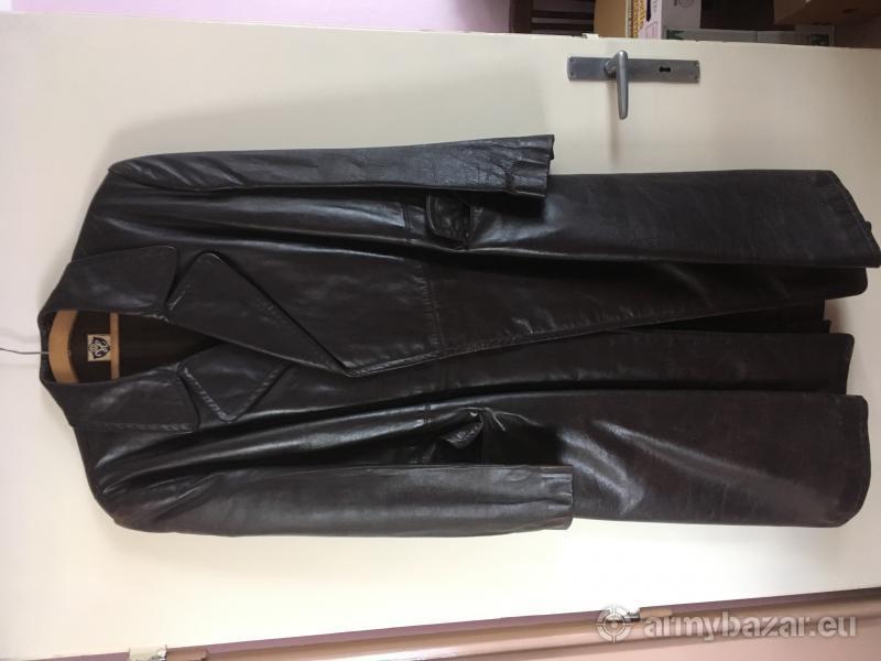 Retro kožený vojenský kabát