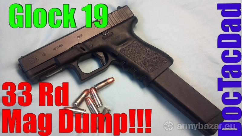 Zásobníky Glock 17/19/26/34 AR15 9Luger