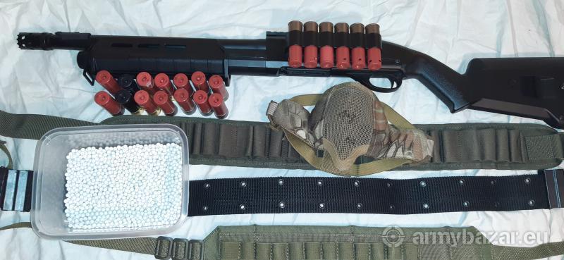 Eladó full fém airsoft shotgun tartozékokkal!