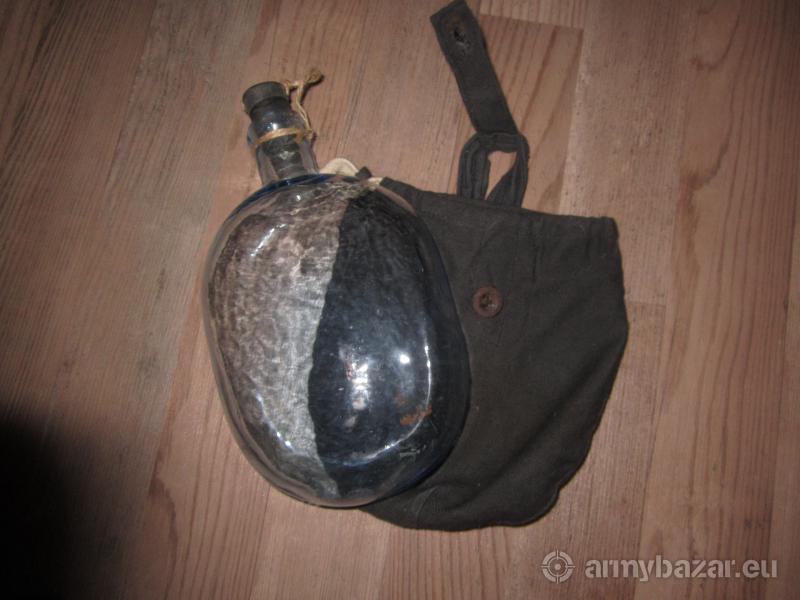 Sovietska sklenená fľaša VOJNOVÝ ORIGINÁL