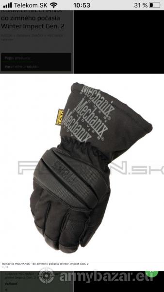 Mechanix zimné rukavice