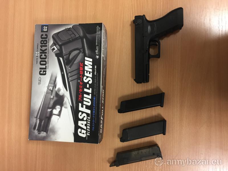 Predám airsoft Glock 18C, GBB, Tokyo Marui