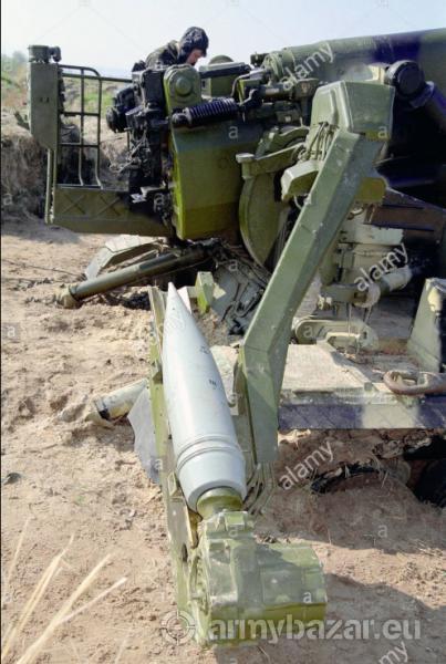 OF-43 kalibru 203mm pre 2S7 Pion